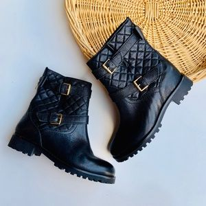 Kate Spade Samara Quilted Motorcycle Boots